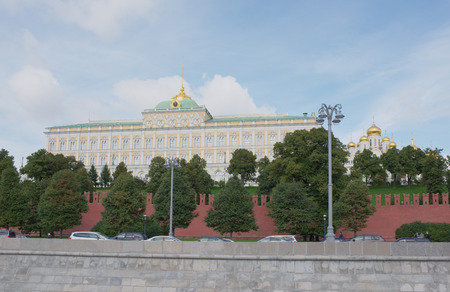 View of the Kremlin from the Moskva River by Kremlin embankment Editorial