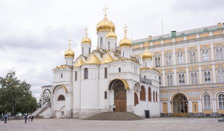 blagoveshchensky: Moscow, Russia -September 09,2016: Kremlin. Blagoveshchensky cathedral. Tourists visiting the sights