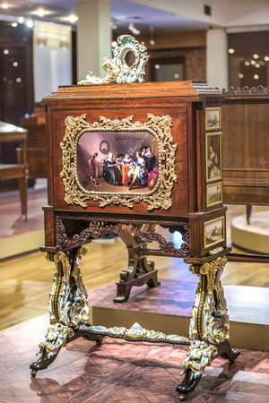 Moscow, Russia -September 09,2016: Patent- secretaire- workshop G. Gambs. Early 19th century. Historical Museum