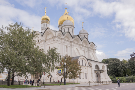 Moscow, Russia -September 09,2016: Kremlin. Archangel Cathedral.Tourists visiting the sights