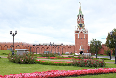 Moscow, Russia -September 09,2016: Kremlin.The area on the site of the 14th Corps of the Kremlin Presidential Palace