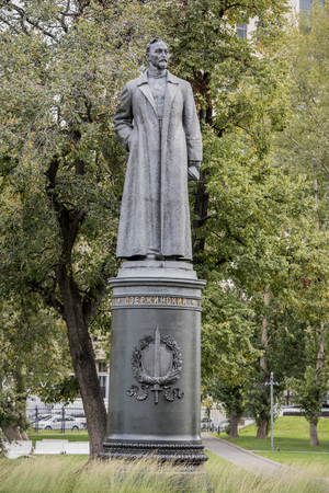 felix: Moscow, Russia -September 09,2016: Sculpture Felix Dzerzhinsky in the park Muzeon, bronze. Sculptor Ye. Vuchetich