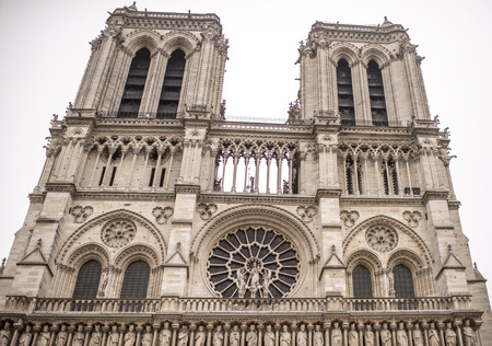 Paris, France- January 01.2017: Notre Dame Cathedral on a winter day