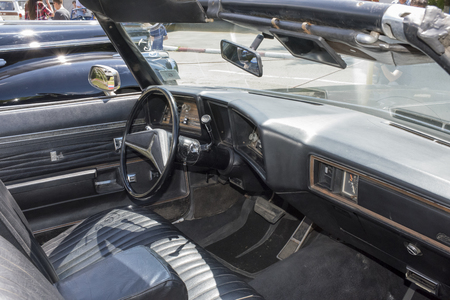 Rostov-on-Don, Russia - May 21,2017: Vintage car oldsmobile standing in the parking lot Editorial