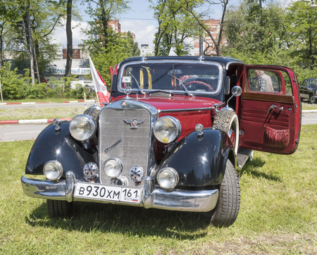 reportage: Rostov-on-Don, Russia - May 21,2017:Auto Mercedes-Benz 230Kronprinz in the parking lot