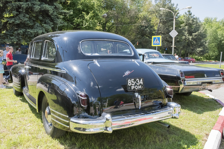 Rostov-on-Don, Russia - May 21,2017: Vintage car ZIS-110 standing in the parking lot