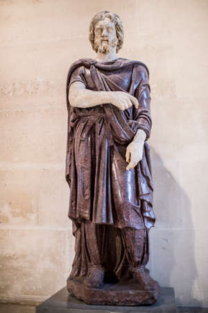 Paris,France- May 03,2017: Barbare captif.The collection of Borghese.Louvre Editorial