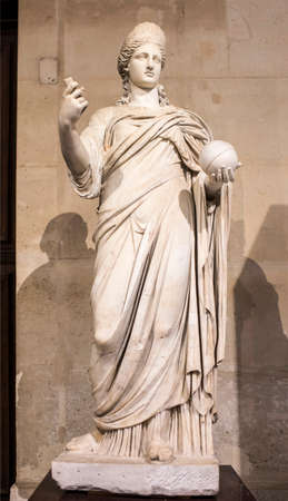 Paris,France- May 03,2017: Statue of Juno,called Providence.Collections royales francaises.Louvre