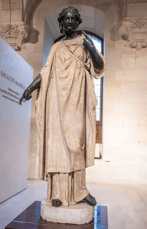 Paris,France- May 03,2017: Diane,known as La Zingarella or Small Bohemienne.Collection Borghese. The Louvre