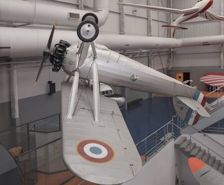 Le Bourget, Paris, France- May 04,2017: Morane-Saulnier in the Museum of Astronautics and Aviation Le Bourget