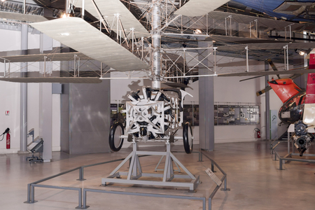Le Bourget; Paris; France- May 04; 2017: Pescara - experimental machine (1925) in the Museum of Astronautics and Aviation Le Bourget Editorial