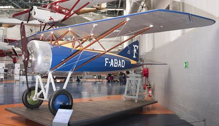 Le Bourget, Paris, France- May 04,2017: Morane-Saulnier Al (1917)in the Museum of Astronautics and Aviation Le Bourget