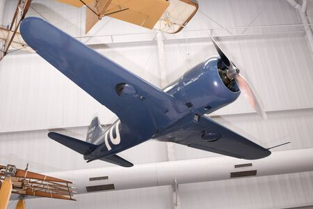 Le Bourget, Paris, France- May 04,2017: Potez 537 (1933) in the Museum of Astronautics and Aviation Le Bourget