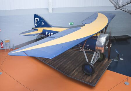 Le Bourget, Paris, France- May 04,2017: Morane-Saulnier Al (1917)in the Museum of Astronautics and Aviation Le Bourget    Le Bourget, Paris, France- May 04,2017: Morane-Saulnier Al (1917)in the Museum of Astronautics and Aviation Le Bourget Editorial