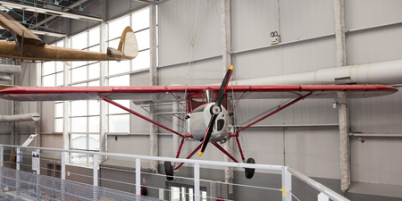 Le Bourget, Paris, France- May 04,2017: Potez P.437 (1932) in the Museum of Astronautics and Aviation Le Bourget