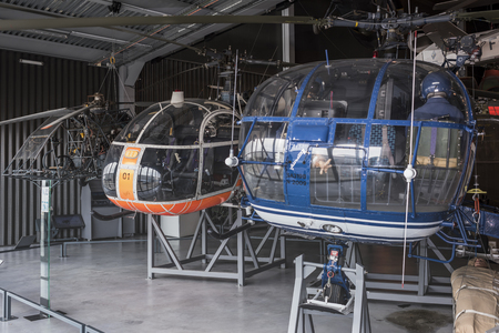 Le Bourget; Paris; France- May 04; 2017: Helicopters in the Museum of Astronautics and Aviation Le Bourget Editorial
