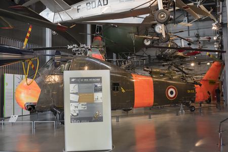 Le Bourget; Paris; France- May 04; 2017: Helicopter Sikorsky H-34A (1954) in the Museum of Astronautics and Aviation Le Bourget Editorial