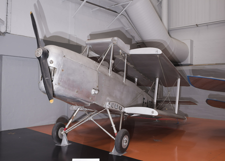 Le Bourget, Paris, France- May 04,2017: Caudron C.277 Luciole(1931) in the Museum of Astronautics and Aviation Le Bourget Editorial