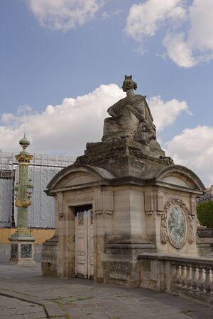 Paris,France- April 29, 2017: Statue of Strasbourg on Place de la Concorde Editorial