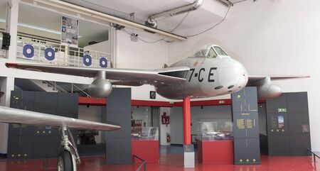 Le Bourget, Paris, France- May 04,2017: Sncase Se.535 Mistral (1951) in the Museum of Astronautics and Aviation Le Bourget Editorial
