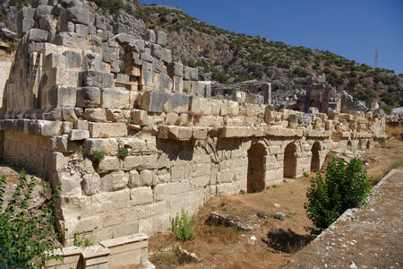 Demre;Turkey-September 08;2017: The ancient Greco-Roman theater in Lycian city