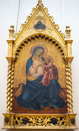 Paris; France- May 03; 2017: Lorenzo Monaco (and workshop?). The Virgin of humility. Around 1415.Louvre