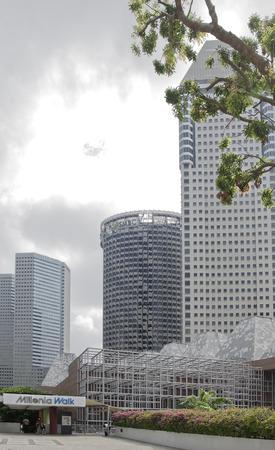 Singapore, Singapore- August 06, 2018: Shopping center Millenia Walk Editorial