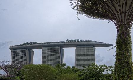 Singapore, Singapore- August 08, 2018: Gardens by the Bay