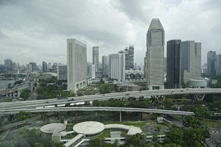 Singapore, August 06, 2018: View of the city from Singapore Flyer Stock Photo