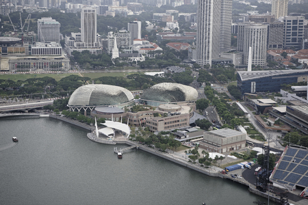 Singapore, August 07, 2018: View of the Esplanade Theatres
