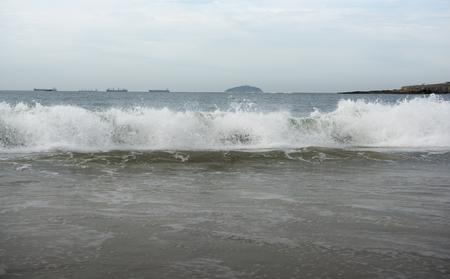 Brasil, Rio de Janeiro. Ocean surf on Copacabana beach Stock Photo