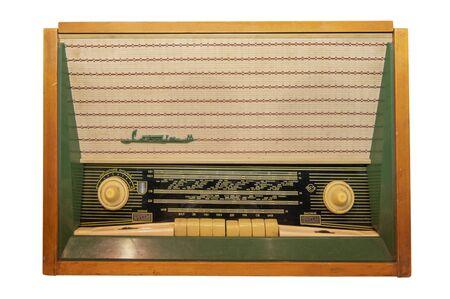 Mid 20th Century Radio Receiver - Isolated on White