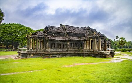 Angkor Wat-largest temple in the world. It is raining Stock fotó - 130337513