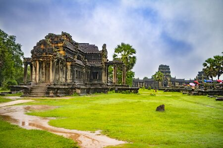 Angkor Wat is the largest temple in the world (Cambodia, 2019). It is raining