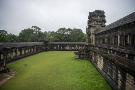 Angkor Wat is the largest temple in the world, it rains in the rainy season
