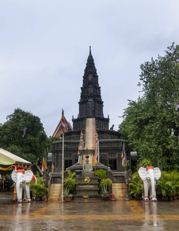Temple in the city of Siem Reap, Cambodia-09.09.2019