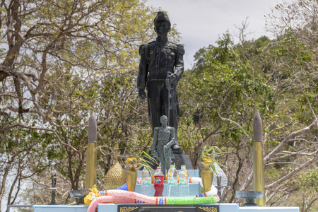 Pattaya, Thailand , September 9, 2019: Monument to the general on the island of Koh Kham. Thailand