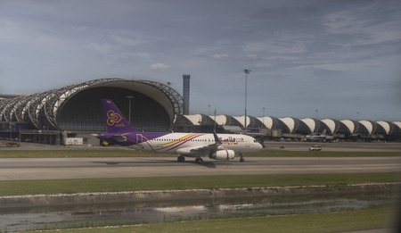 Bangkok, Thailand, September 1, 2019: New Bangkok International Airport (Suvarnabhumi). Flight preparation in progress