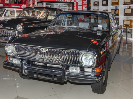 Kamensk-Shakhtinsky, Russia-August 17, 2019: GAZ 2401 Volga -Soviet middle-class car was produced from 1967 to 1986 - in the Museum of the Legend of the USSR Sajtókép