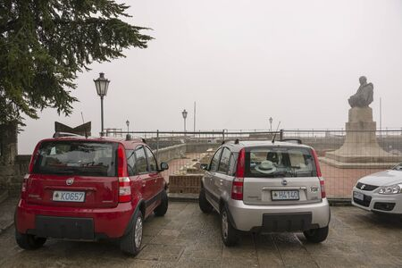 SANMARINO,ITALY-APRIL 05-Cars with number plates San Marino