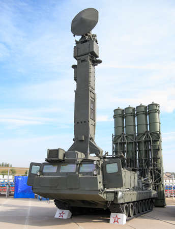 Rostov-on-Don, Russia - August 28, 2020: Launcher S-300V4 at a military training ground