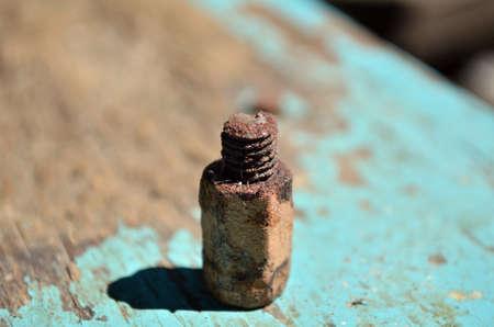 photo of old broken exhaust manifold bolt