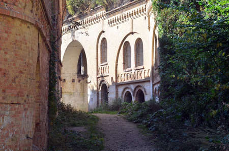 Photo of buildings inside of old fortress in Ukraine