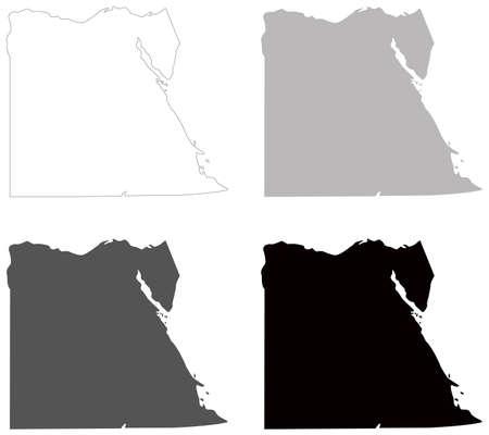 vector illustration of Egypt map Ilustração