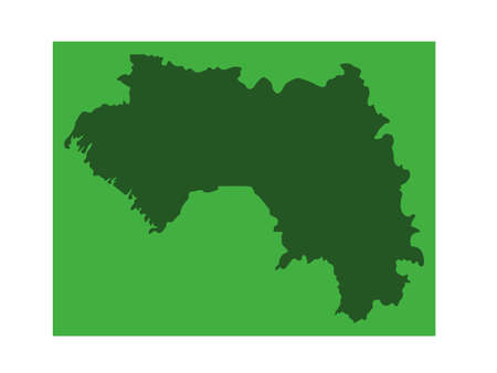 vector illustration of Guinea map