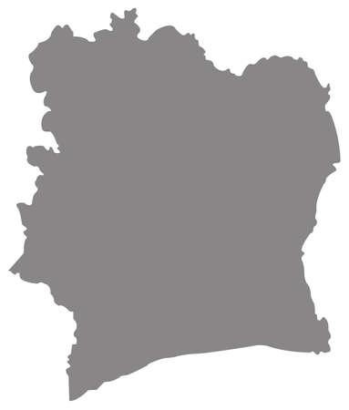 vector illustration of Ivory Coast map  イラスト・ベクター素材