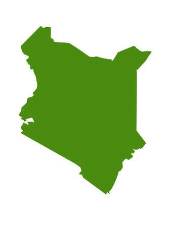 vector illustration of Kenya map  イラスト・ベクター素材