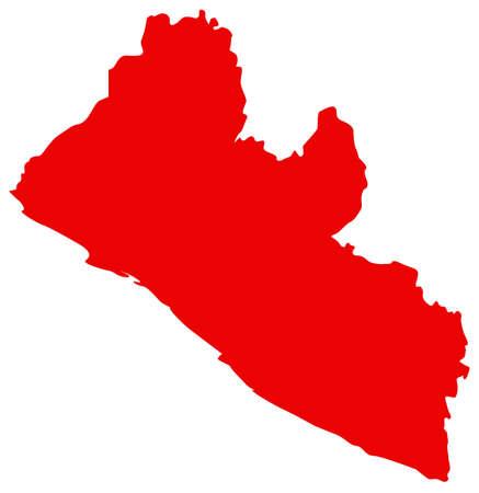 vector illustration of Liberia map