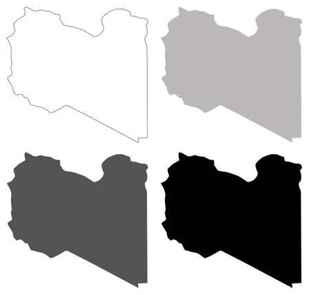 vector illustration of Libya map