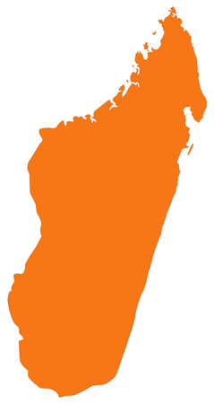 vector illustration of Madagascar map  イラスト・ベクター素材